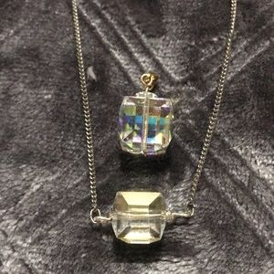 Swarovski Crystal Cube Bead Pendants
